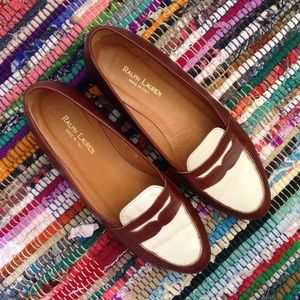 Ralph Lauren Penny Loafer Leather Flats Size 8